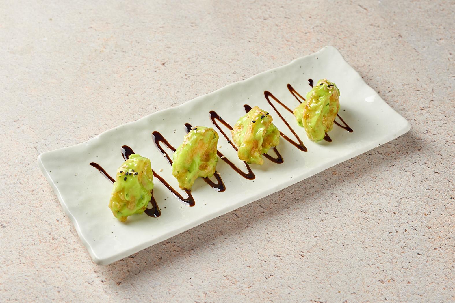 Креветки под соусом «Васаби»