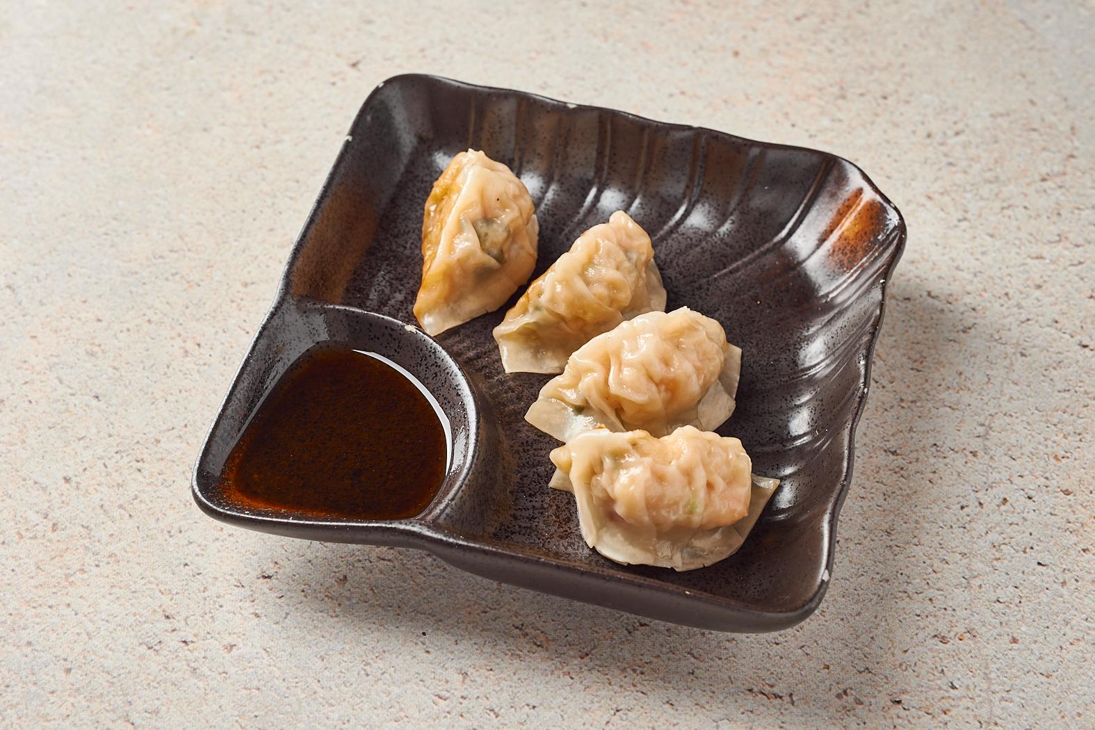 Японские пельмени «Гедза» с креветками